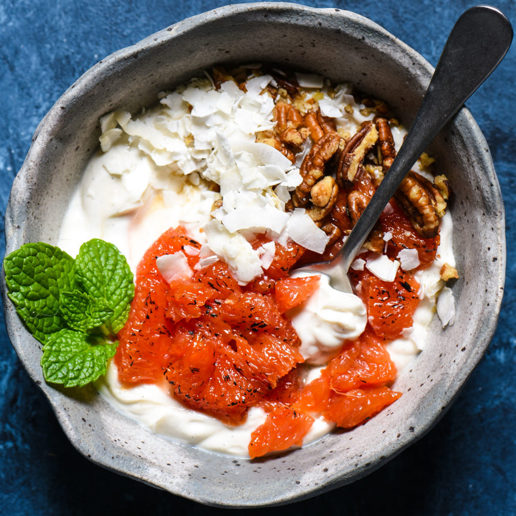 Caramelized Grapefruit Parfait Bowl-2