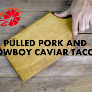 Pulled Pork and Caviar Tacos