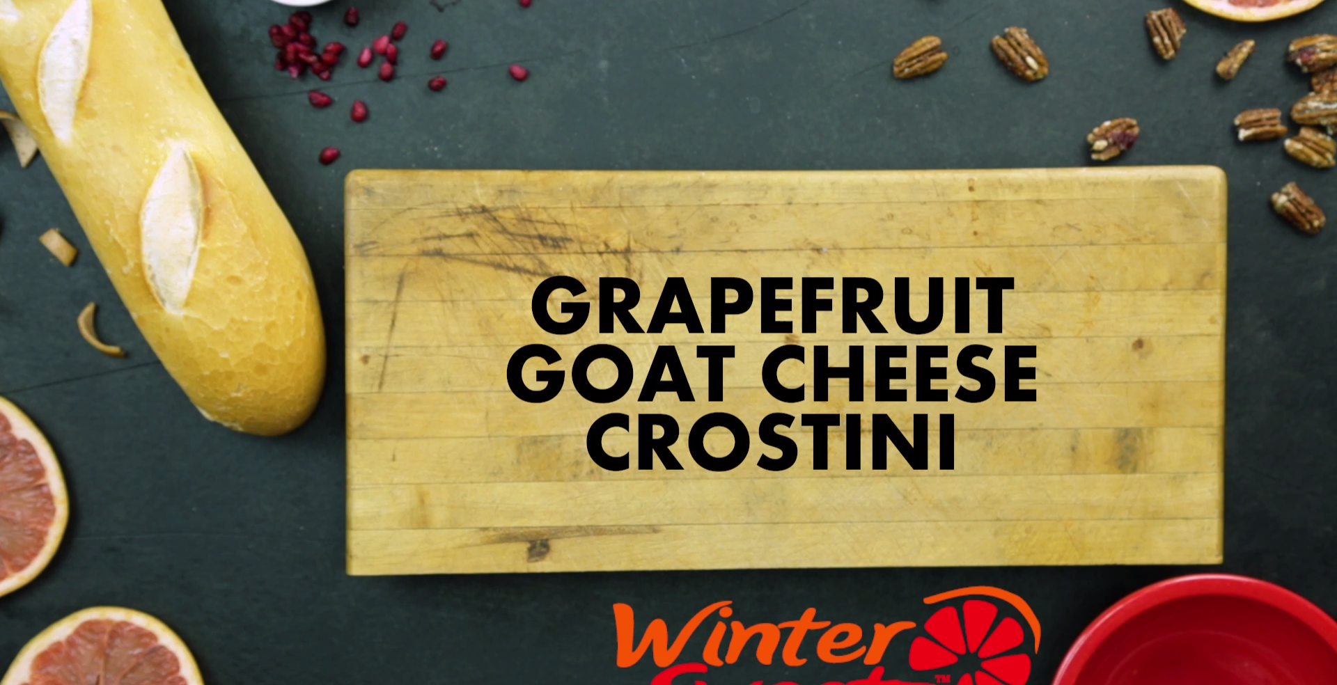 Grapefruit Goat Cheese Crostini