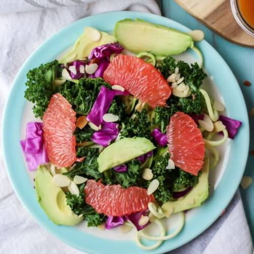 Grapefruit-Zucchini-Kale-Salad