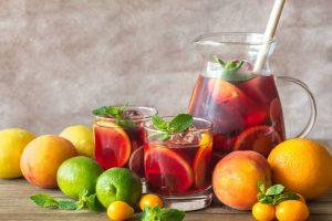 DIY Grapefruit Sangria Christmas Basket