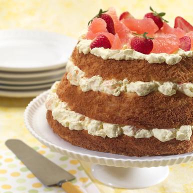 Angel Food and Grapefruit Lush Cake